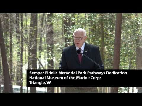Semper Fidelis Memorial Park Dedication at National Museum of the Marine Corps
