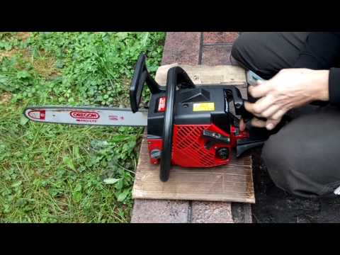 Chainsaw Jonsered 2045 turbo set-up and high speed