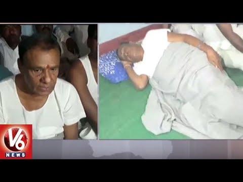 Narsapur MLA Madan Reddy Visits Sitharama Thanda Village, Participatesc In 'Palle Nidra' | V6 News