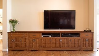 Barn Furniture - Custom Mission Entertainment Console