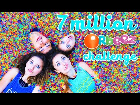 7 MiLLiON ORBEEZ iN OUR SPA | Toy Scavenger Hunt Challenge with KamriNoel