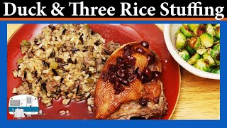 Roast Duck With Three Rice Stuffing - White Trash Cooking