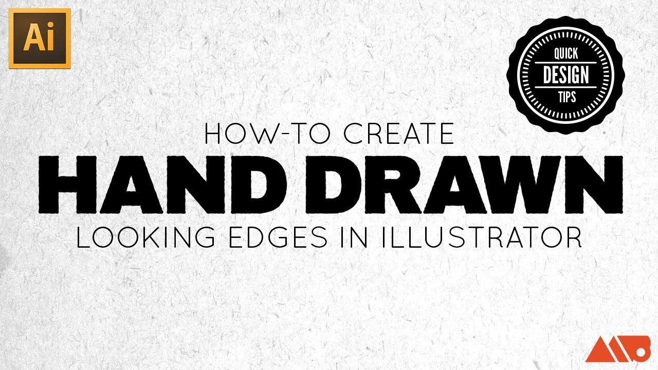 How to create hand drawn looking edges in adobe illustrator youtube