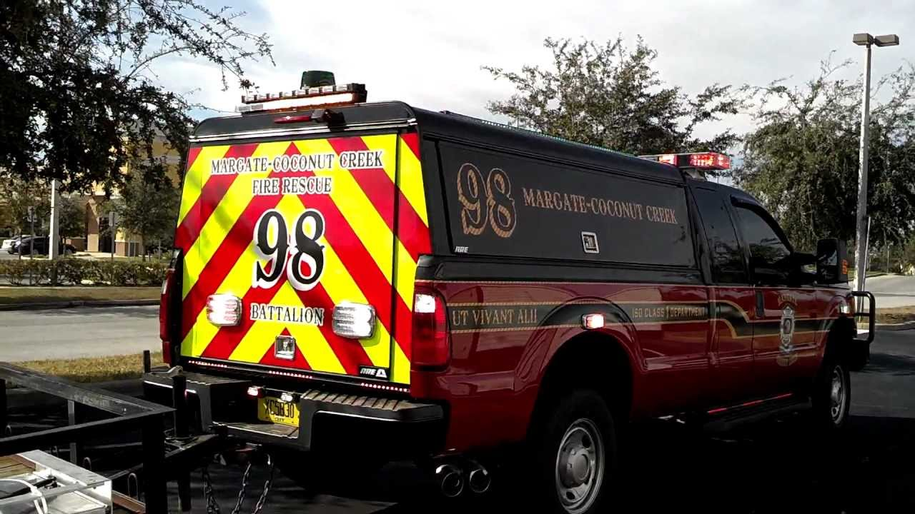 City Of Margate Fire Department Ford F350 HG2 Runner Lighting Package YouTube