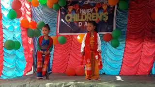 Cute little children dancing