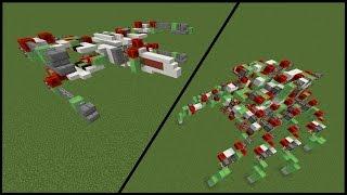 Minecraft Redstone Roboter! Spinne, Katze, Einhorn & X-Wing (Star Wars)