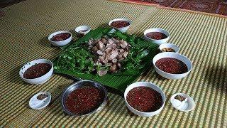 Thịt lợn ăn tết và món tiết canh ngon tuyệt.hương vị tết miền núi   Trai Miền Núi