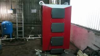 Обзор твердотопливного котла DRAGON AUTO 100, отопление без газа, на дровах