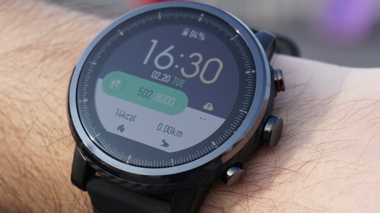 Смарт часы xiaomi amazfit stratos sports watch черный