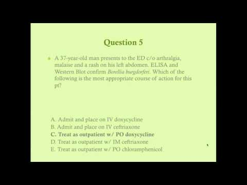 Infectious Disease Review Questions - CRASH! Medical Review Series
