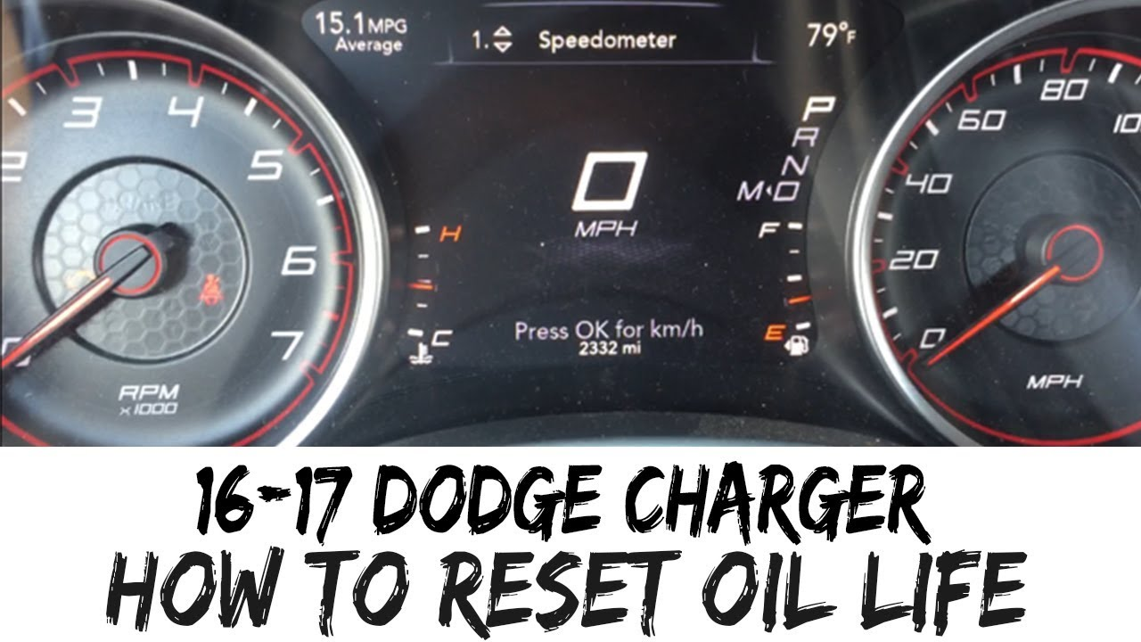 How To Reset Oil Life Indicator 2016-2017 Dodge Charger 16 17