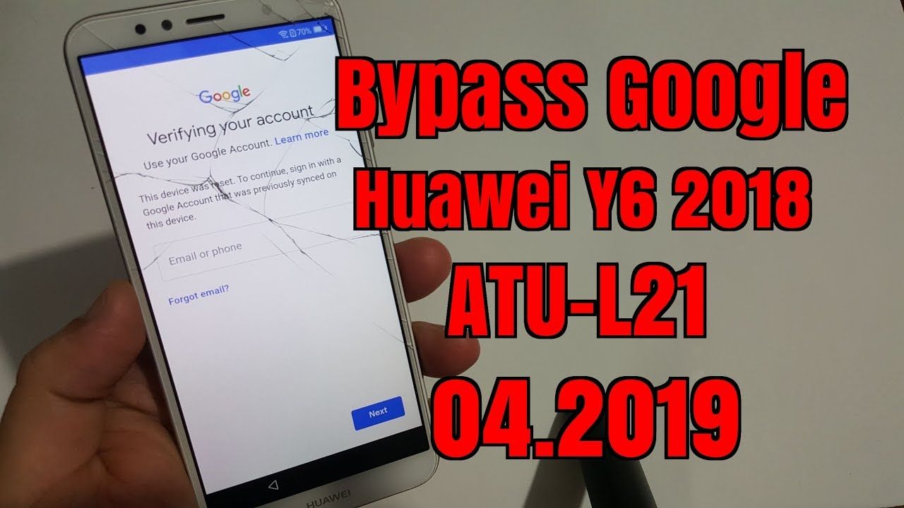 BOOM!!! Huawei Y6 2018 ATU-L21 Remove Google account bypass frp