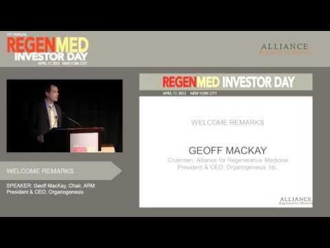 Welcome Remarks: Regen Med Investor Day
