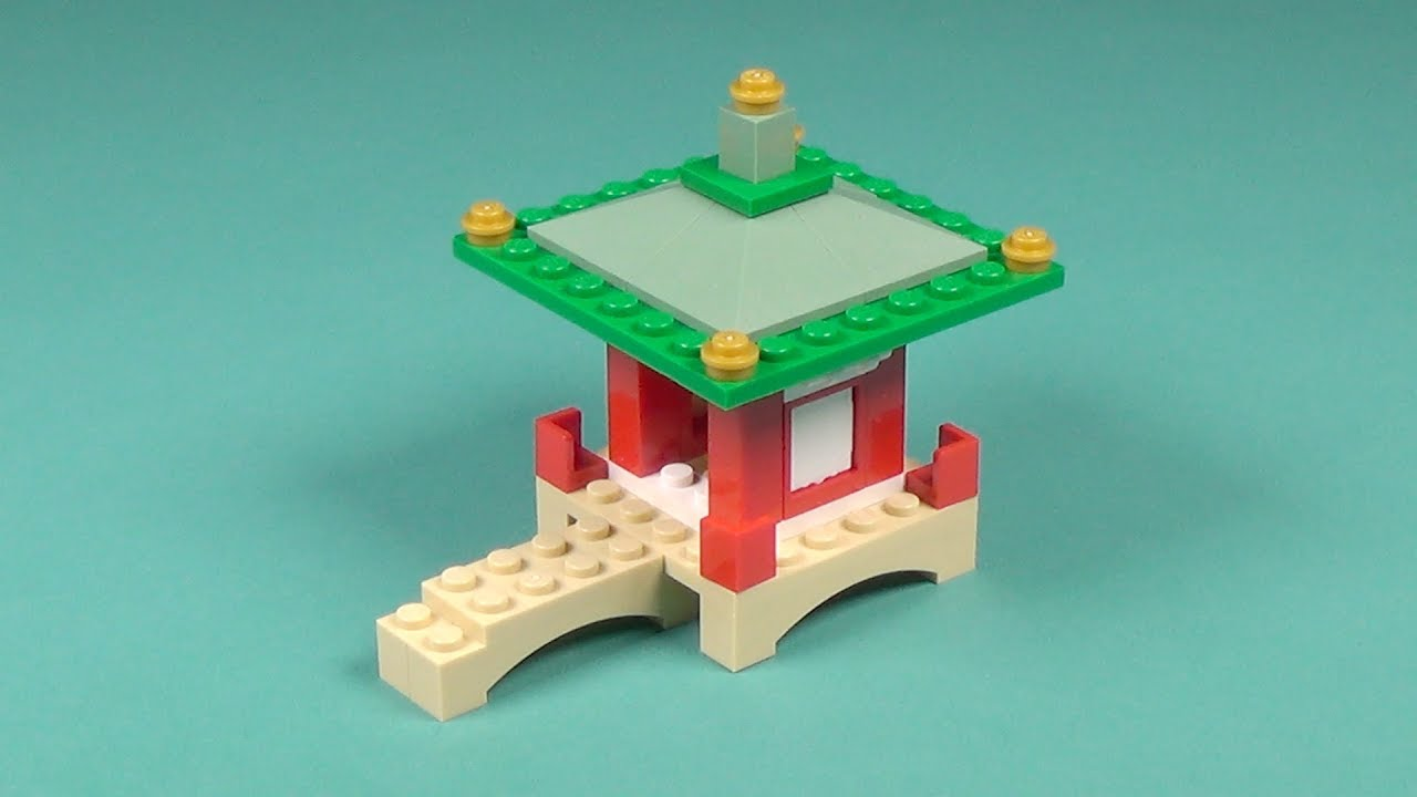 Lego asian temple building instructions lego classic for Lego classic house instructions