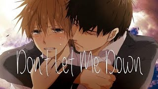 Nightcore - Don't let me down (Male Cover)