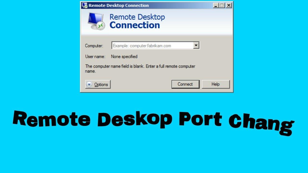 Remote Desktop Default Port Change Youtube