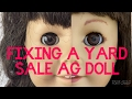 Custom Facepaint and Fixing Up a Yard Sale American Girl Samantha Doll