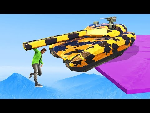 How NOT To Survive A Tank! - GTA 5 Funny Moments