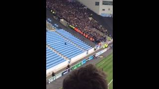1000+ Millwall fans celebrate their goal away at Coventry | 16/4/16