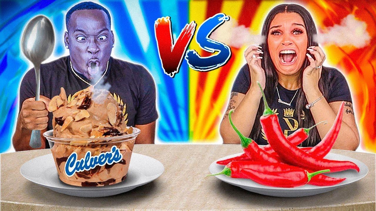 HOT VS COLD FOOD CHALLENGE
