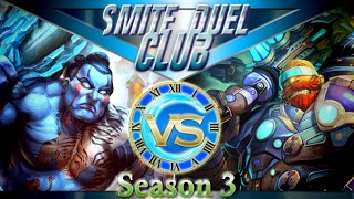 Ymir vs Vulcan - Duel Club 1v1 #8 - Smite(Hello everybody and welcome to this amazing duel club. Today we were just playing with no hunters. This brought about one of the most fun Duels I've ever had., 2016-05-23T17:01:34.000Z)