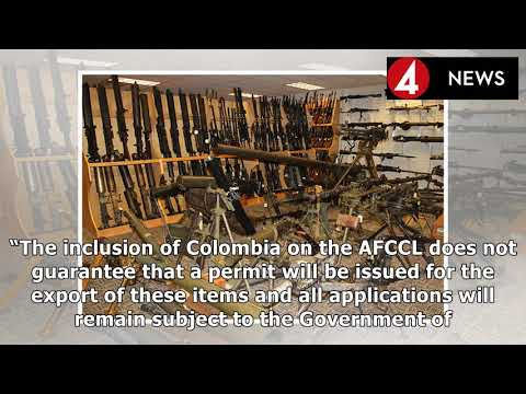 COLOMBIA EXPRESS  Canada eases arms export ban Colombia