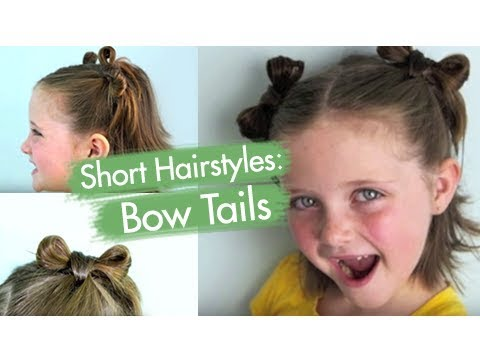 Bow Tails | Short Hairstyles | Cute Girls Hairstyles thumbnail