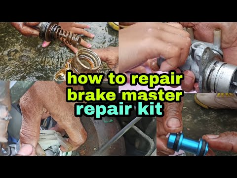 HOW TO REPLACE & REPAIR BRAKE MASTER/ REPAIR KIT/SUZUKI MULTICUB