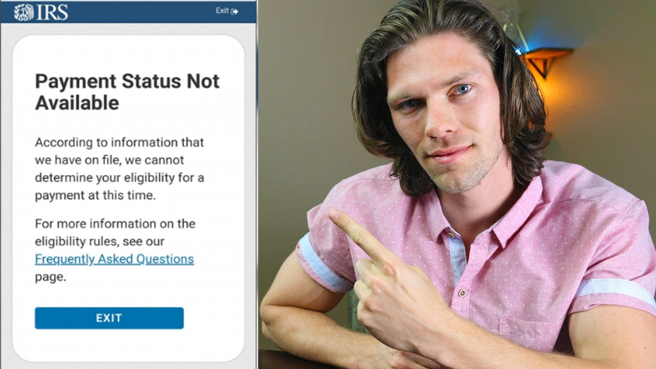 Getting 'Payment Status Not Available' from the new IRS stimulus ...