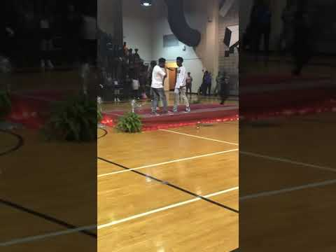 Street bud rapping no cap at Burke county middle school