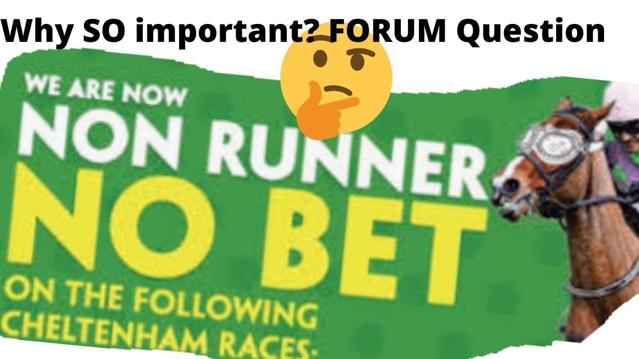 what happens if i bet on a non runner