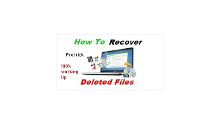 how to recover deleted file from laptop or computer in 2 min. pto trick.