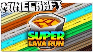 Minecraft | SUPER Lava Run! | 3 Stages Of LAVA DEATH (Minecraft Speed Run Parkour)