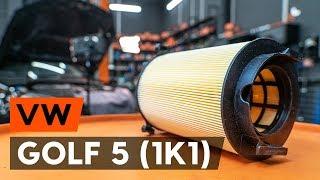 Cómo cambiar Filtro de aire motor VW GOLF V (1K1) - vídeo gratis en línea