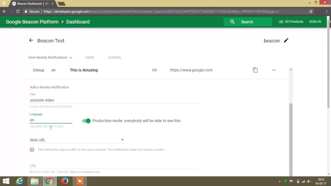 Beacon Attachment using Google Beacon Platform