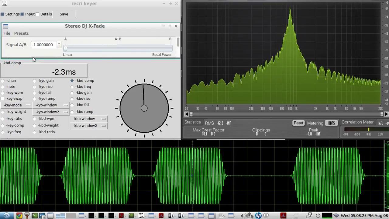 The AD5DZ software CW KEYER - QRQ CW KEYBOARD menu options for better QRQcw  copy by ear