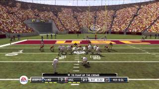 NCAA Football 12 Gameplay (PS3) - USC vs Notre Dame