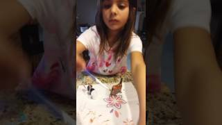 cookie swirl c with ava painting a baby horse