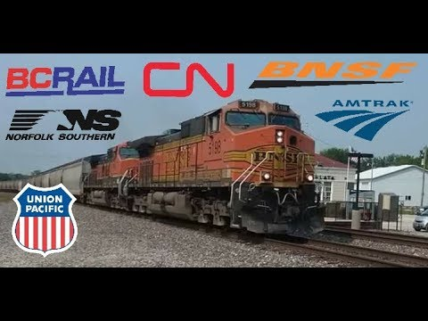 HD: Labor Day weekend Railfanning on the BNSF Marceline sub
