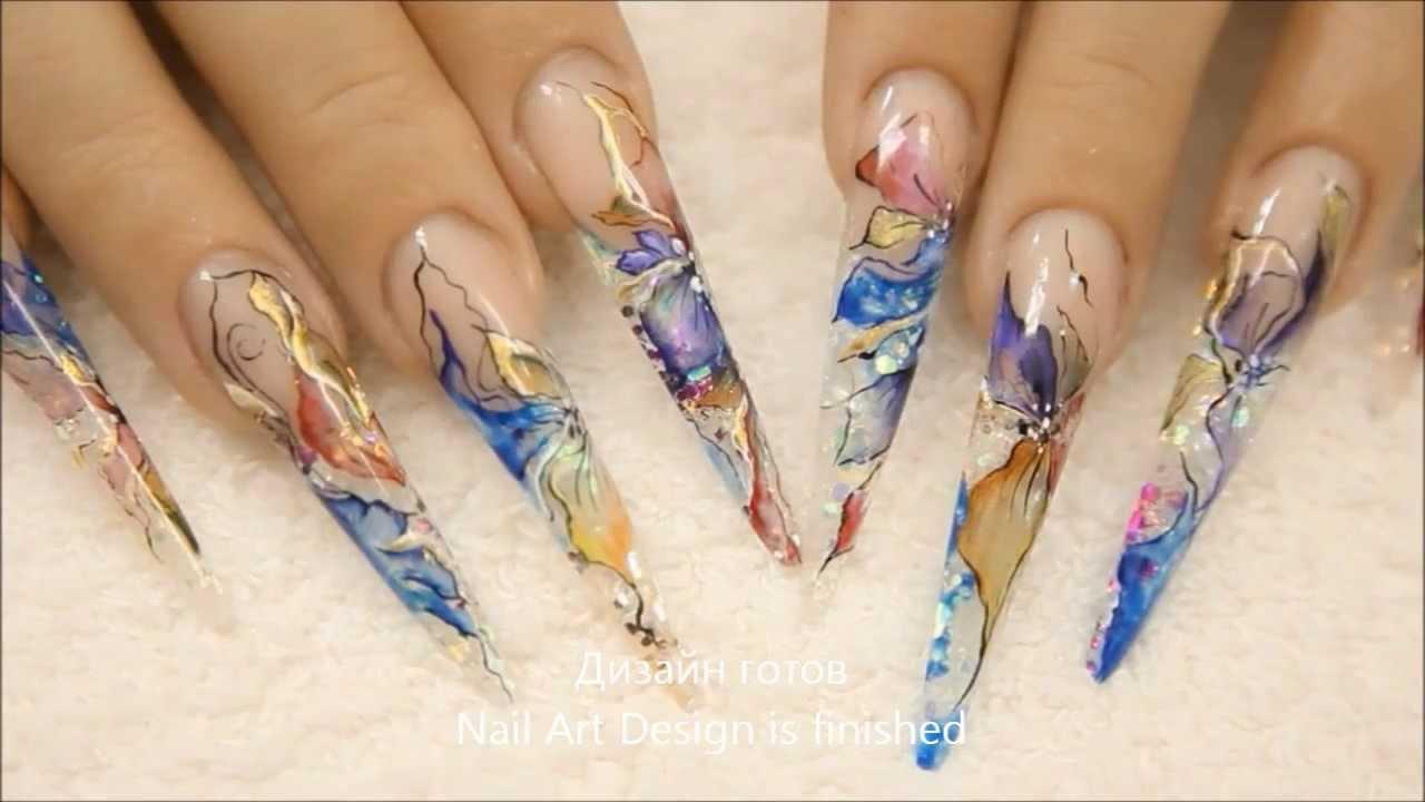 Дизайн ногтей аквариум 25 фото