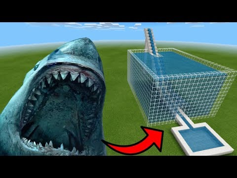 How To Make A MEGALODON Water Slide In Minecraft PE