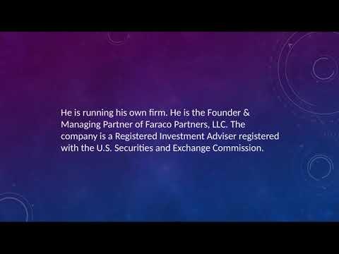 Francisco Faraco - Chartered Financial Analyst (CFA) From New York