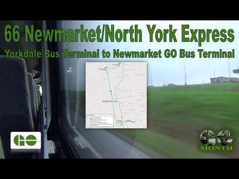 66 Newmarket/North York Exp. -  GO Transit 2014 MCI D4500CT 2570 (Yorkdale to Newmarket Terminal)