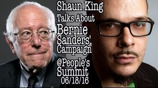 Shaun King, on Social Media & Bernie Sanders' Campaign SHAUN KING, Speaks about Bernie Sander's Campaign at the Media & The Movement workshop, @ the People's Summit. 06/18/16.