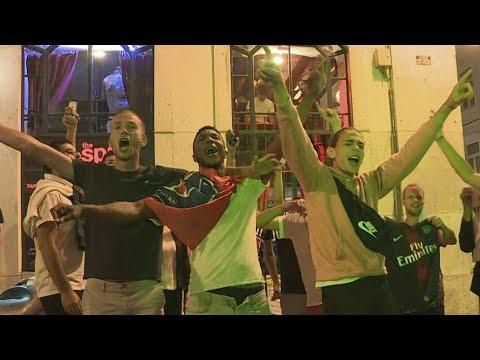 AFP News Agency: Champions League: PSG fans celebrate victory in Lisbon | AFP