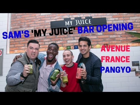 Sam Okyere opens 'My Juice' Bar at Pangyo