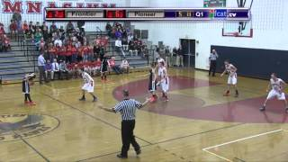 Frontier Regional School Boys Basketball vs Pioneer 3X OT Jan 1 2016