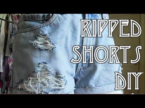 How To Rip & Fray Denim Shorts | Quick & Easy DIY - YouTube