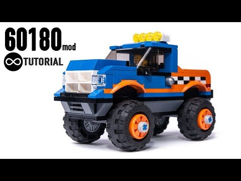 Lego City 60180 Monster Truck Mod Speed Build Instructions Youtube