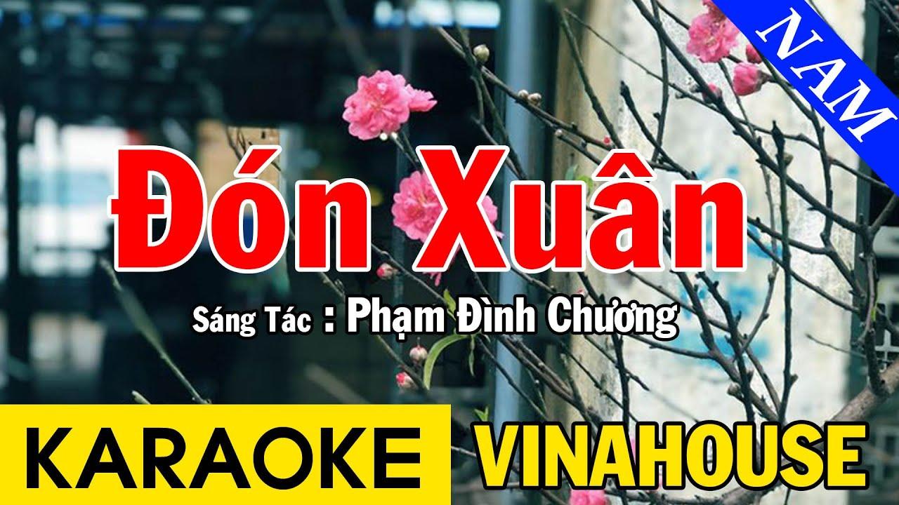 Karaoke Đón Xuân Tone Nam Nhạc Sống Vinahouse - Beat Chuẩn